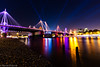 Hungerford Footbridge and Strobes