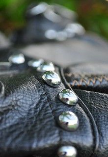 Metal studs on my handbag!!