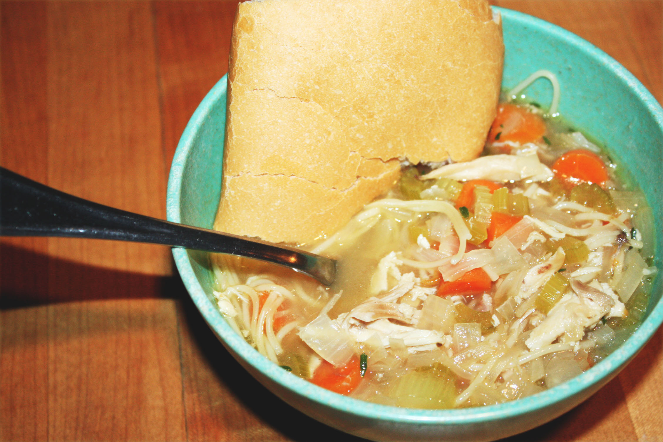 My Latest Obsession: Easy Rotisserie Chicken Noodle Soup