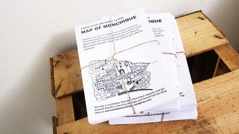 Stack of maps for Monchique