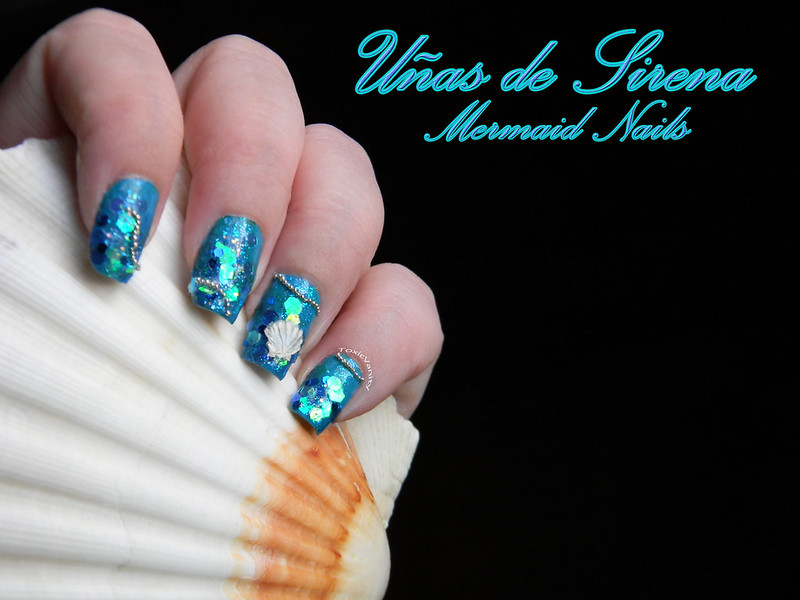 Summer Challenge : DIY Uñas de sirena / Mermaid Nails - Toxic Vanity