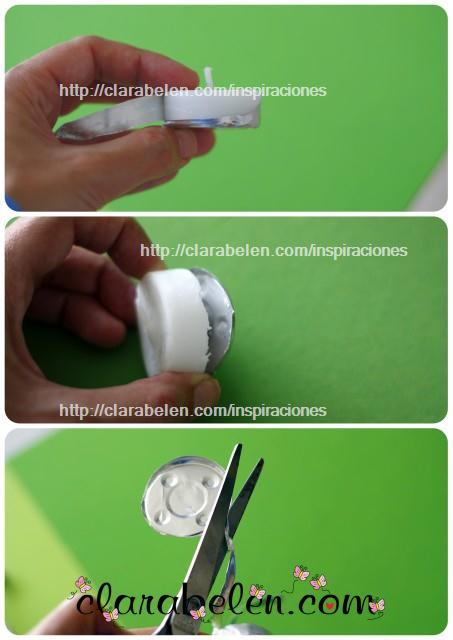 como hacer cajas con cápsulas de velas recicladas