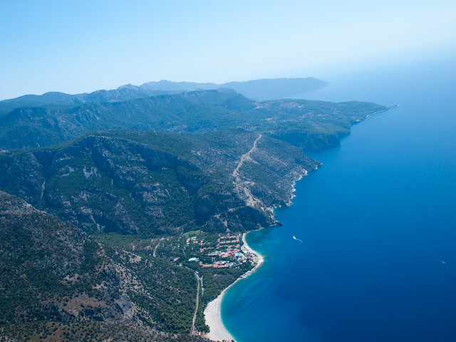 View of Oludeniz from the parachute