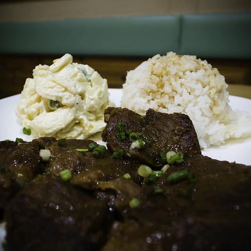 Shoyu Pork Okinawan Style with Macaroni Salad and Rice, Sean's Kitchen, Urayasu, Japan
