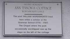 Photo of William Wordsworth white plaque
