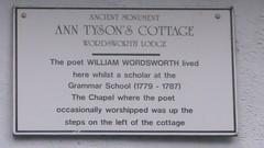 Photo of William Wordsworth white plaque