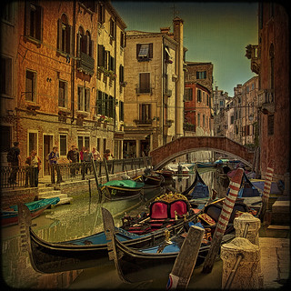 Venice... Gondolas are waiting.