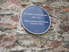 Photo of Harriet Martineau blue plaque