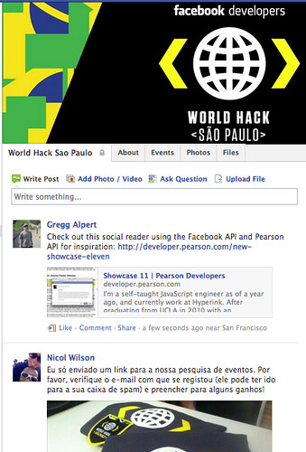 Facebook Group for Sao Paulo World Hack