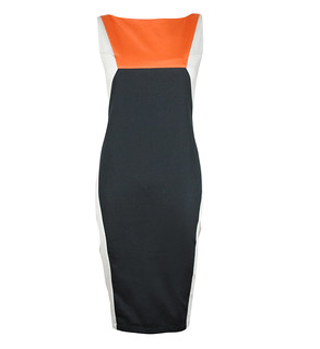 Sabrina Color Blocking Dress Rust 1895