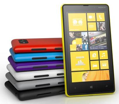 Nokia Lumia 820 color range