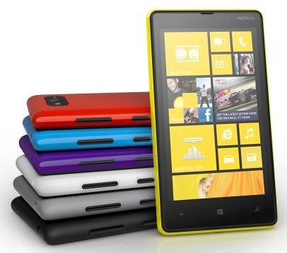 Nokia Lumia 820 color range