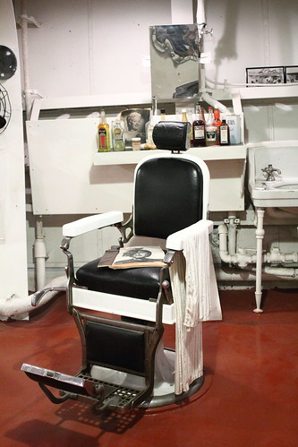 Barber's chair on USS Alabama