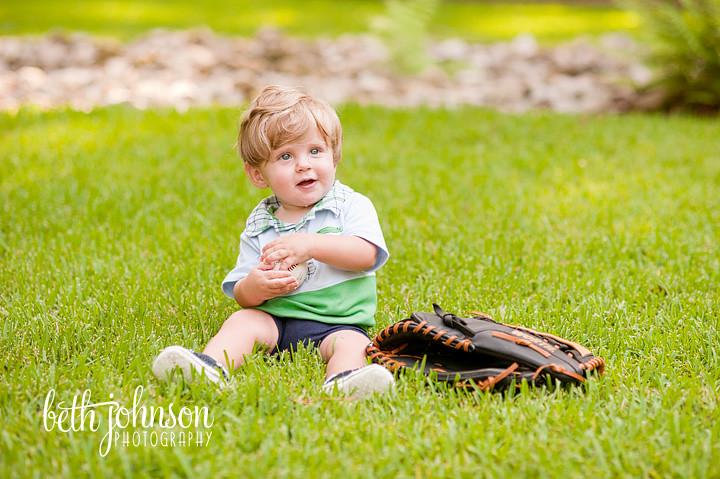 baby boy holding baseball 8 months photographer tallahassee