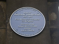 Photo of Isaac Holden blue plaque