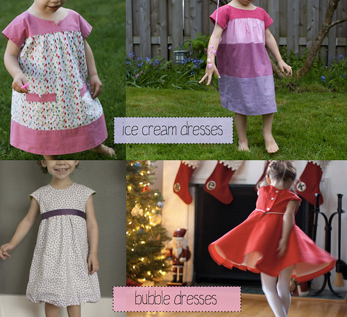 ice cream dresses and bubble dresses