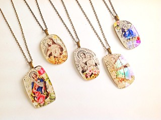 spectacular pendants with saintly design