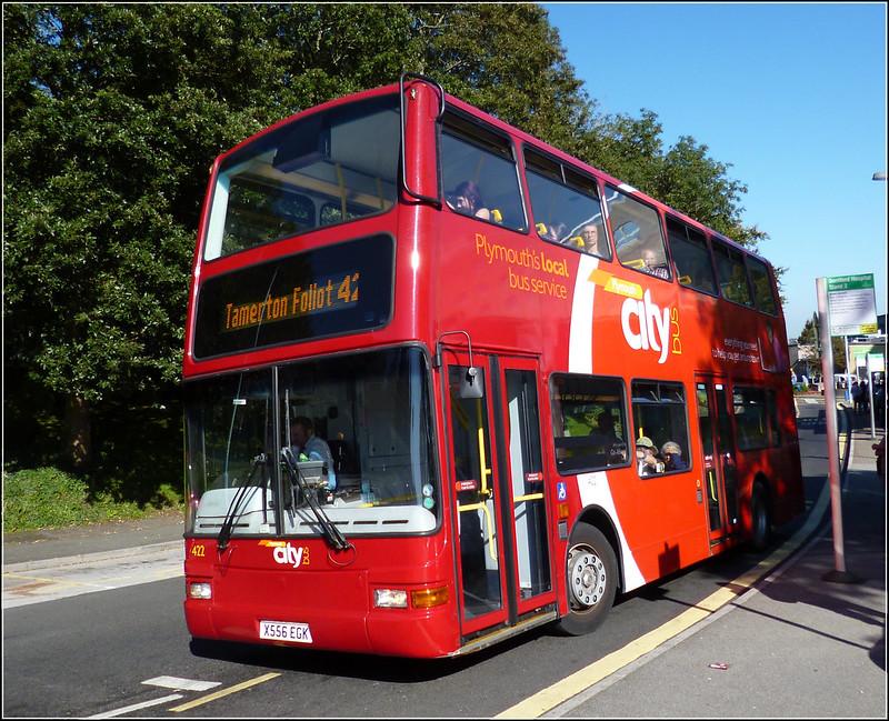 Plymouth Citybus 422 X556EGK