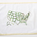 US Map Embroidery