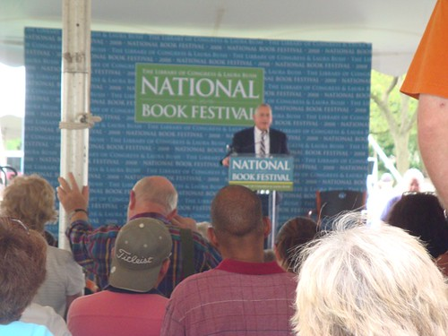 Walter Issacson speaking at a past festival