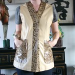 Loewe leather vest from tag sale in Roslyn