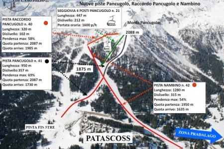 Madonna di Campiglio: nové sjezdovky z vrcholu Pancugolo