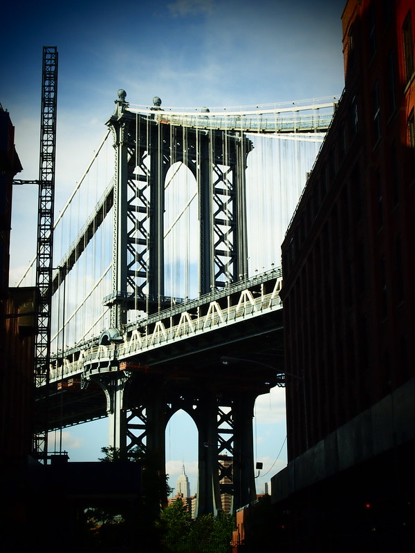 Manhattan Bridge with Empire State Building
