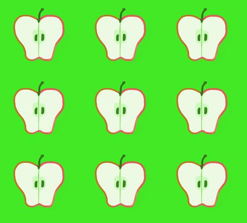 Half Apple Pattern by randubnick