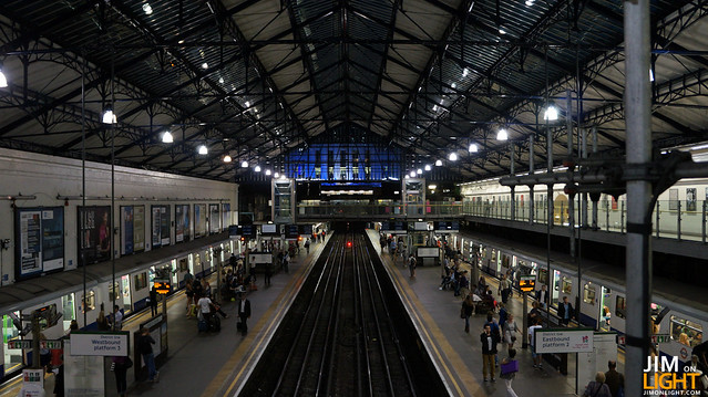 the view of Earl's Court from the Earl's Court Station