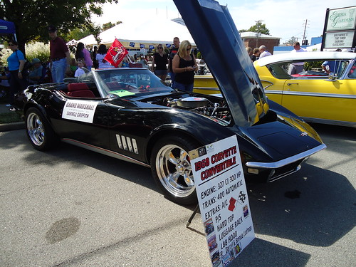 Darrell Griffith was grand master of parade in this Corvette