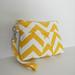 Wristlet in Corn Yellow Zig Zag by chicbazar1