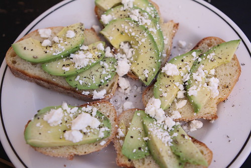 Avocado and Feta on Bread