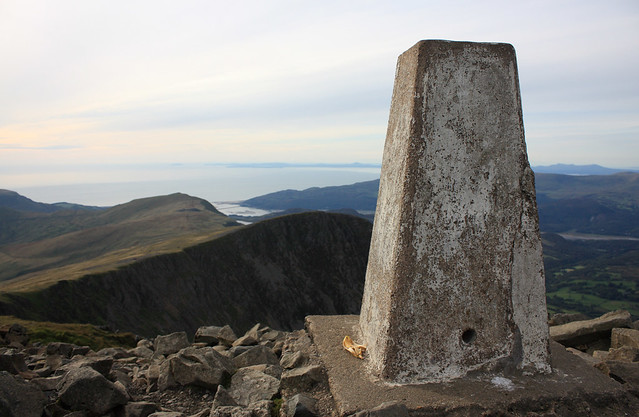 Cadair Idris summit trig point
