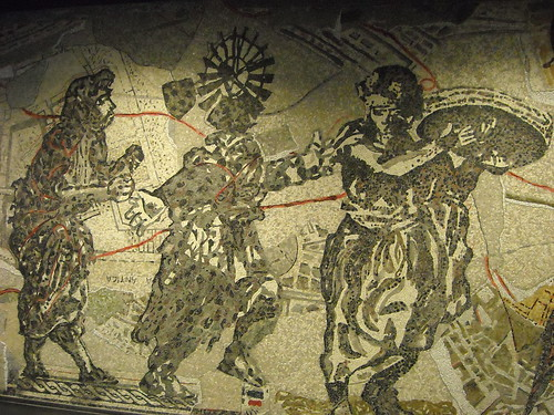 """Mosaic by William Kentridge (Johannesburg 1955) inspired by """"Musicians"""" from Pompeii - La stazione """"Toledo"""" della metropolitana di Napoli, inaugurata il 17.9.12 / """"Toledo"""" Underground Station in Naples, open 17.9.12"""