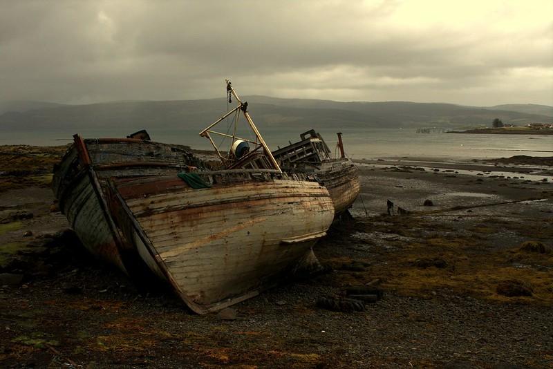 Boats at Salen, Mull