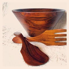 DANISH MODERN DESIGN Mid Century Walnut Bowl Large Teak Wood...</p></a>                        <div class=
