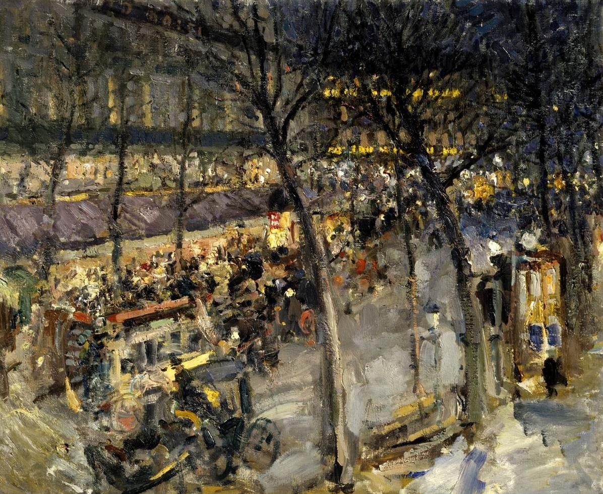 Paris. Cafe de la Paix by Constantin Alexeevich Korovin - 1906