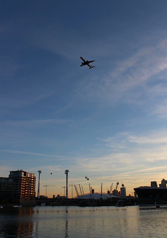 Take off from the City of London Airport
