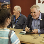 Chris Riddell | The Children's Laureate meets some of his young fans at his Book Signing © Robin Mair