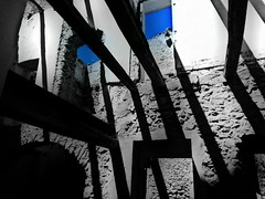 Blue Sky Debris Ruined Building Ruins Light And Shadow