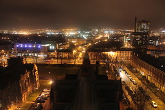 Belfast from the Queen's University Library Tower at night