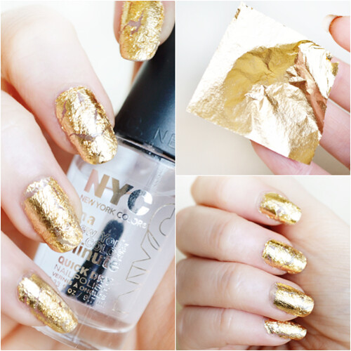 Gold Leaf nails