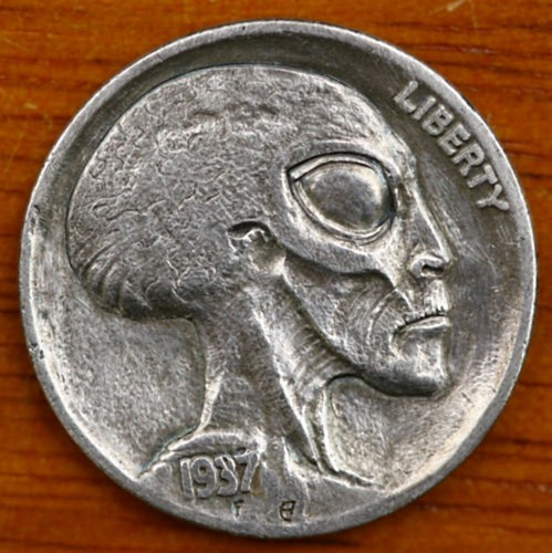 Space Alien Hobo Nickel
