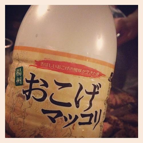 おこげマッコリの瓶。珍しいそうです。