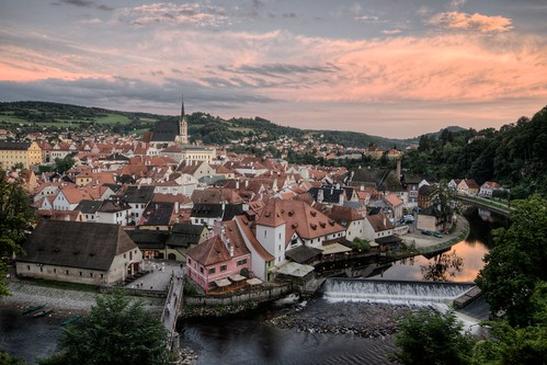 Sunset in Český