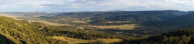 Panorama view from Urraca Mesa