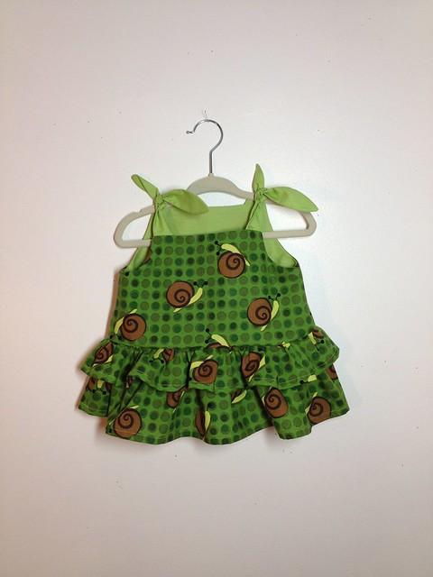 ruffled snail dress