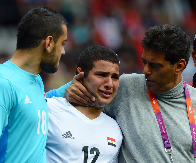 Egypt's Coptic Christian Coach Consoles Muslim Player During Olympics