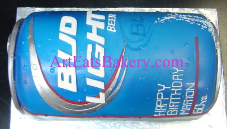 3d Giant Bud Light Beer Can Unique Modern Fondant 60th