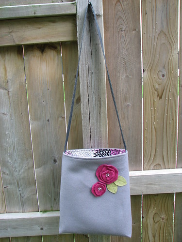 Simple Tote Bag: Felted Flowers
